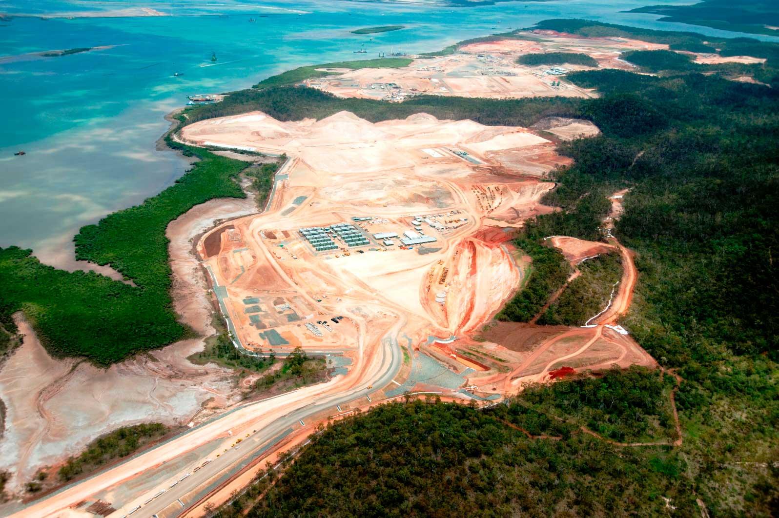 GLNG Curtis Island earthworks